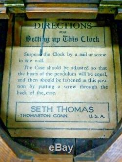 Seth Thomas Santa Fe Railroad RR Clock Richmond CA