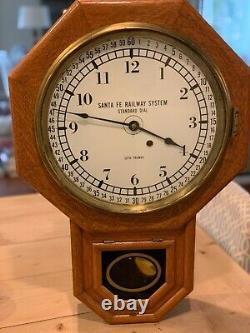Seth Thomas Santa Fe Railway Clock