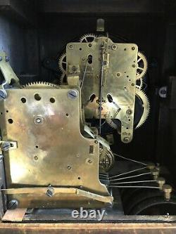 Seth Thomas Senora Bellchime Clock #2 Adamantine Mantle Clock Vgc Run&chimes