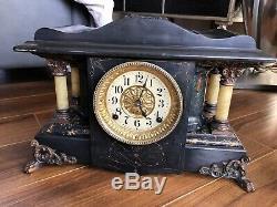 Seth Thomas Shasta Antique Adamantine Mantel Clock