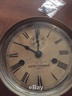 Seth Thomas Ship Bell Clock Rare