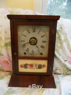 Seth Thomas Slant Base Cottage Clock, 8 day T&S&Alarm, c. 1875, Original Condition
