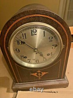 Seth Thomas Sonora Chime Clock 14 inches tall 10 wide 7 1/3 deep Complete