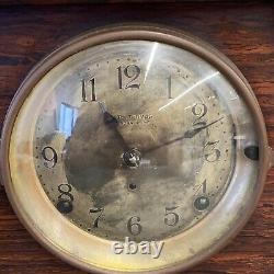 Seth Thomas Sonora Chime Clock 4 Bells Mantle with Key