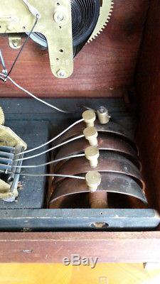 Seth Thomas Sonora Chime Westminster 4 Bells Mantel Clock