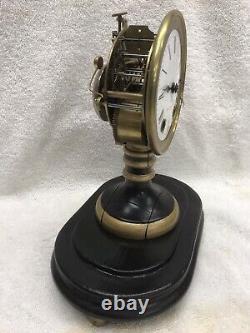 Seth Thomas Sons & Co. Candlestick Mantle Clock with Dome. Circa 1890. Runs