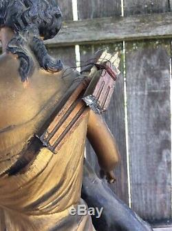 Seth Thomas & Sons, Roman Goddess Theme Statue, Mantel / Shelf Clock Case