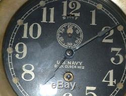 Seth Thomas U. S. Navy Deck No. 2 Brass Ships Deck Clock No. 2