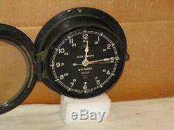 Seth Thomas U. S. Navy Ships Clock 6 Inch Dialww21943chelsea Key