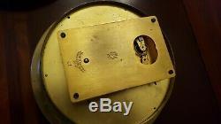 Seth Thomas US COAST GUARD Black Brass 6 dial ships clock w Key