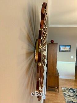 Seth Thomas Vintage Mid Century Modern Starburst Clock Quartz Movement