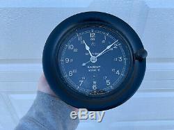 Seth Thomas WW2 Era Deck Clock Vintage Bakelite US Navy Working Military Clock
