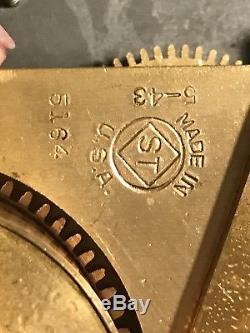 Seth Thomas WW2 US Army Airforces Bakelite Military Wall Clock Bulkhead works 43