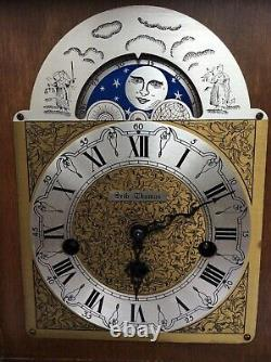Seth Thomas Wharton 8 Day Mantel Clock With Moon Dial & Westminster Chime. Works