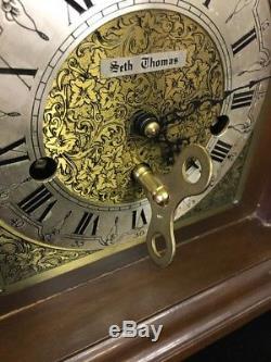 Seth Thomas Wharton Model 1219 Moon Phase 8 Day Mantle Clock