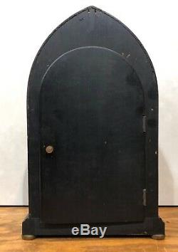 Seth Thomas Whitby Inlaid Mantel Table Shelf Clock Porcelain Dial Beehive