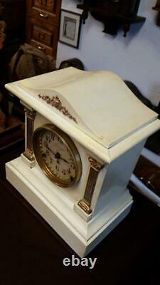 Seth Thomas White Adamantine (Dwight model) Mantle Clock