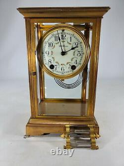 Seth Thomas mercury pendulum brass clock # D11622