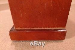 Seth Thomas vintage wood/ mantle / shelf Cathedral wind up 8 day clock
