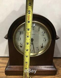 Small Miniature Seth Thomas 8 Day Mantle Table Shelf Clock