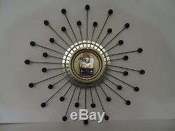 Starburst Sunburst Wall Clock Seth Thomas mid century eames era 22 mint rare