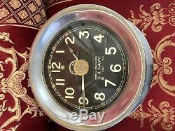 UK seller Rare US Navy Mark 1 deck Clock 1940 Ships Clock Seth Thomas movement