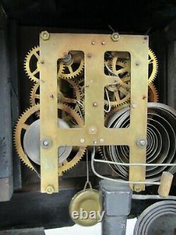 ULTRA RARE! Seth Thomas mantel clock BUILT IN MUSIC BOX antique MUSICAL 1 in 10k