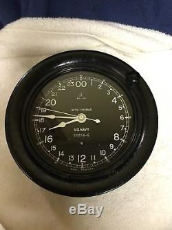 US Navy WW II Seth Thomas Ships Clock