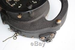 VINTAGE NAUTICAL NAVY SETH THOMAS WW2 Ships Course Clock Mark 2 Model 1 ESTATE