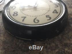 VINTAGE SETH THOMAS ELECTRIC INDUSTRIAL WALL CLOCK Cat No 3464