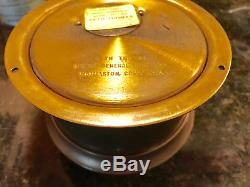 VINTAGE SETH THOMAS SHIPS BELL CLOCK CORSAIR-W MOD E537-000 WithKEY -WORKS GREAT