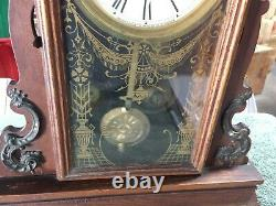 VINTAGE SETH THOMAS Tacoma City Series Walnut Parlor Mantel Clock RUNNING