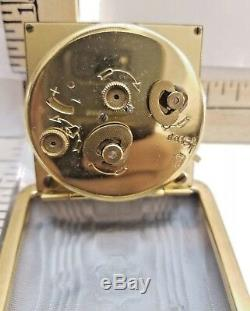 Very Rare Antique Seth Thomas Travel Clock in a Leather Case