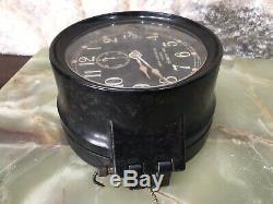 Vintage 1943 U. S. Navy Ww II Mark I-deck Seth Thomas 60200 Ships Clock Working