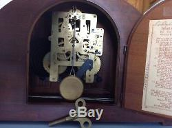 Vintage 1947 Seth Thomas 8 day Pendulum Strike Mantle Clock