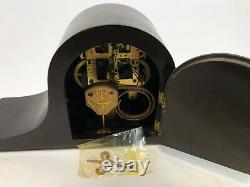 Vintage 20 Seth Thomas COMPLETE Camelback Wood Chime Wind Up Mantel Clock w Key
