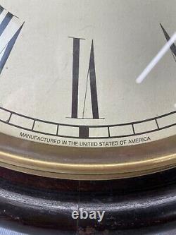 Vintage American Seth Thomas School / Station Clock. Working