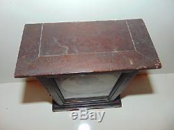 Vintage Antique Seth Thomas Mirror Glass Door Clock Mantle Key Wind RARE