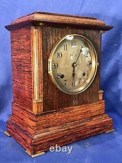Vintage Antique USA Seth Thomas 4 Bell Sonora Chime Clock, Double Movement