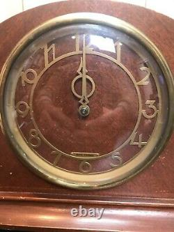 Vintage Electric Art Deco Mahogany Mantle Clock By Seth Thomas #6502. Consol 7E