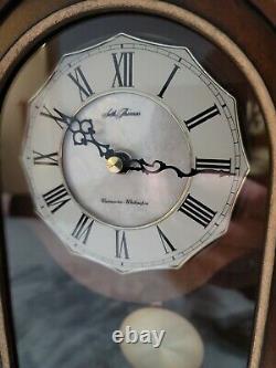 Vintage Gorgeous Seth Thomas Mantle Shelf Clock Westminster Chime with Pendulum