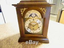 Vintage Key-wound Lunar Moonphase Seth Thomas Westminster Mantel Clock