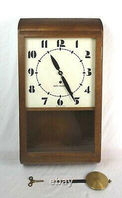 Vintage Mid Century Retro Seth Thomas Observer Art Deco Wall Clock