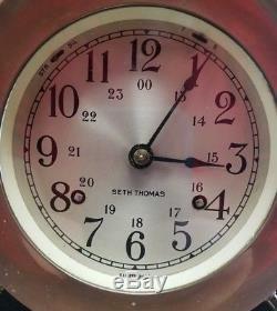 Vintage Naval Seth Thomas Ship Bell Clock, Helmsman Ship Clock