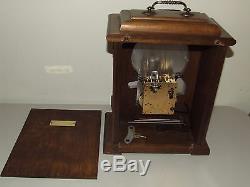 Vintage New England Handmade Walnut Bracket Mantel Clock with Seth Thomas Movement