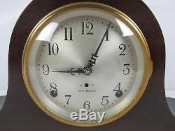 Vintage Old SETH THOMAS SENTINEL #1 Mantel Clock TAMBOUR CASE TIME & STRIKE NICE