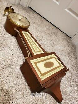 Vintage SETH THOMAS Brookfield 4E Mid Century Art Deco 29 Banjo Wall Clock