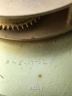 Vintage Seth Thomas 1930s Marine Boiler Room / Wardrobe Brass Ships Clock&key