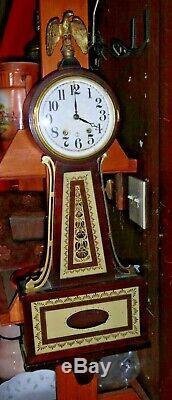 Vintage Seth Thomas 8-Day Banjo Clock with 120 Series Movement 4112
