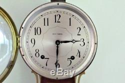 Vintage Seth Thomas 8 Day Springwound Banjo Clock with Eagle Finial 28